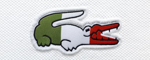 Lacoste Flags Polo Italian Logo Ropa De Hombre Camisetas Bordado