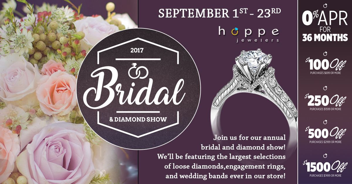 Now Through September 23rd Is Our Annual Bridal And Diamond Show We Are Featuring The Largest Selection Of Loose Diamonds Wed With Images Wedding Bands Bridal Engagement
