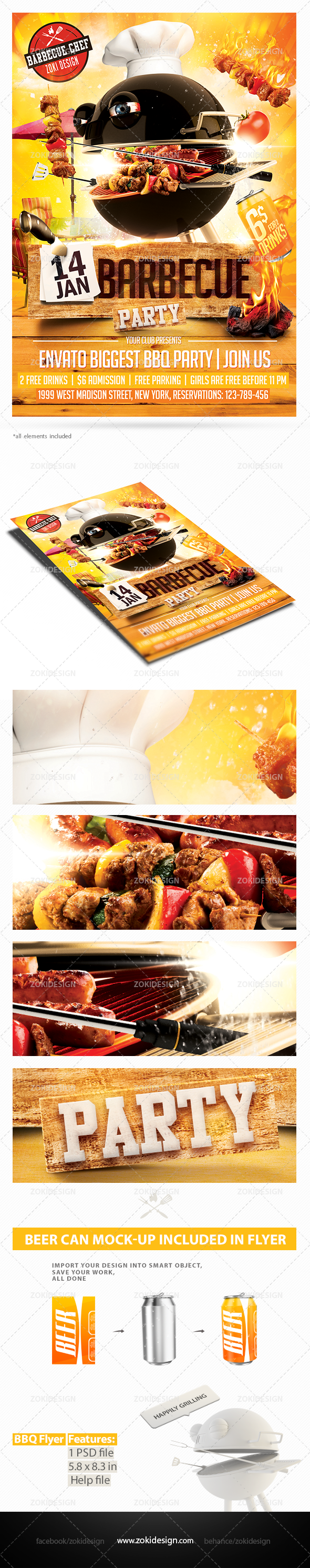 Barbecue Party Flyer | Zokidesign