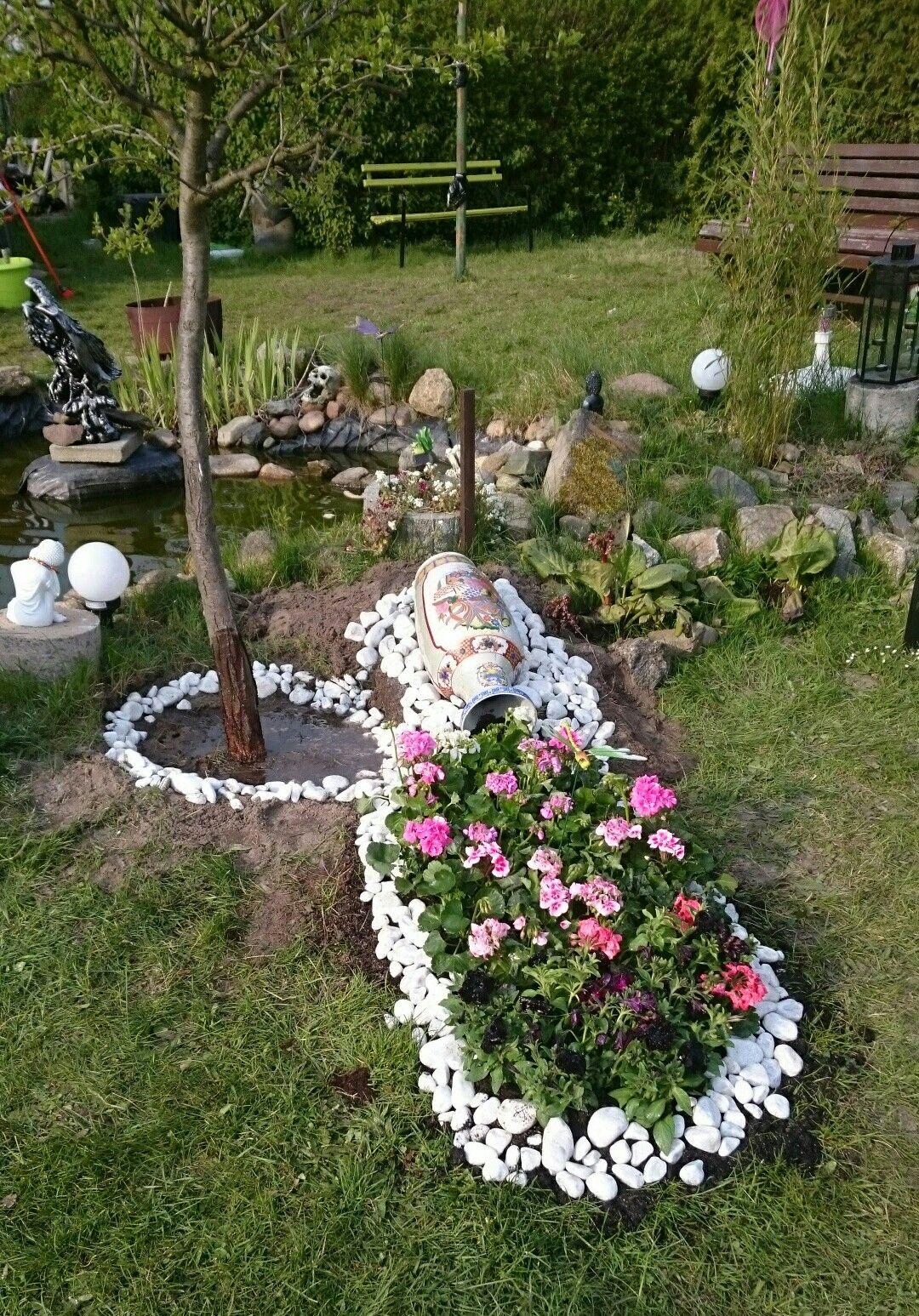 Garten, Blumen, Idee, Gartengestaltung, Gartengestaltung, Steine ...