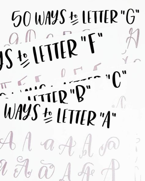 Creative Ways To Write Letters 50 ways to letter the alphabet   hand lettering & doodling
