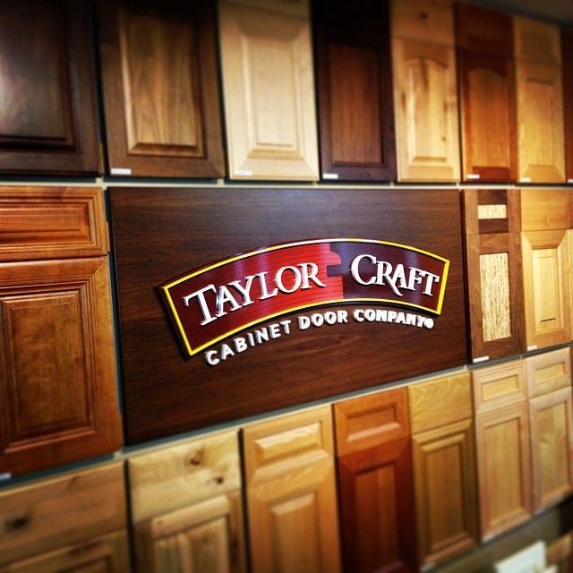 Cabinet #Door Display with #TaylorCraft Cabinet Door Company logo ...