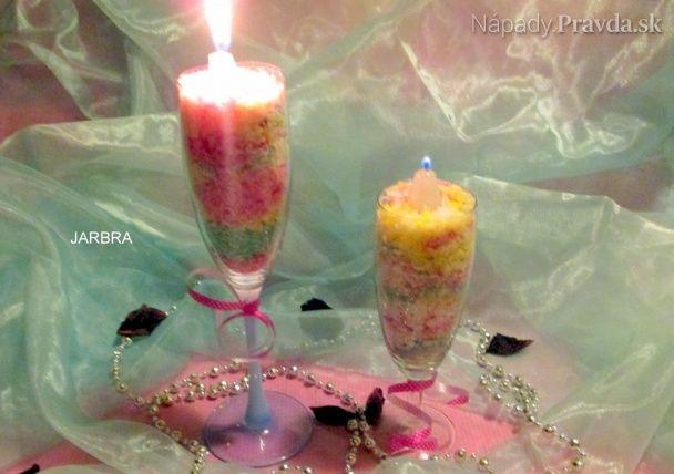 Recy farebná nastrúhaná sviečka
