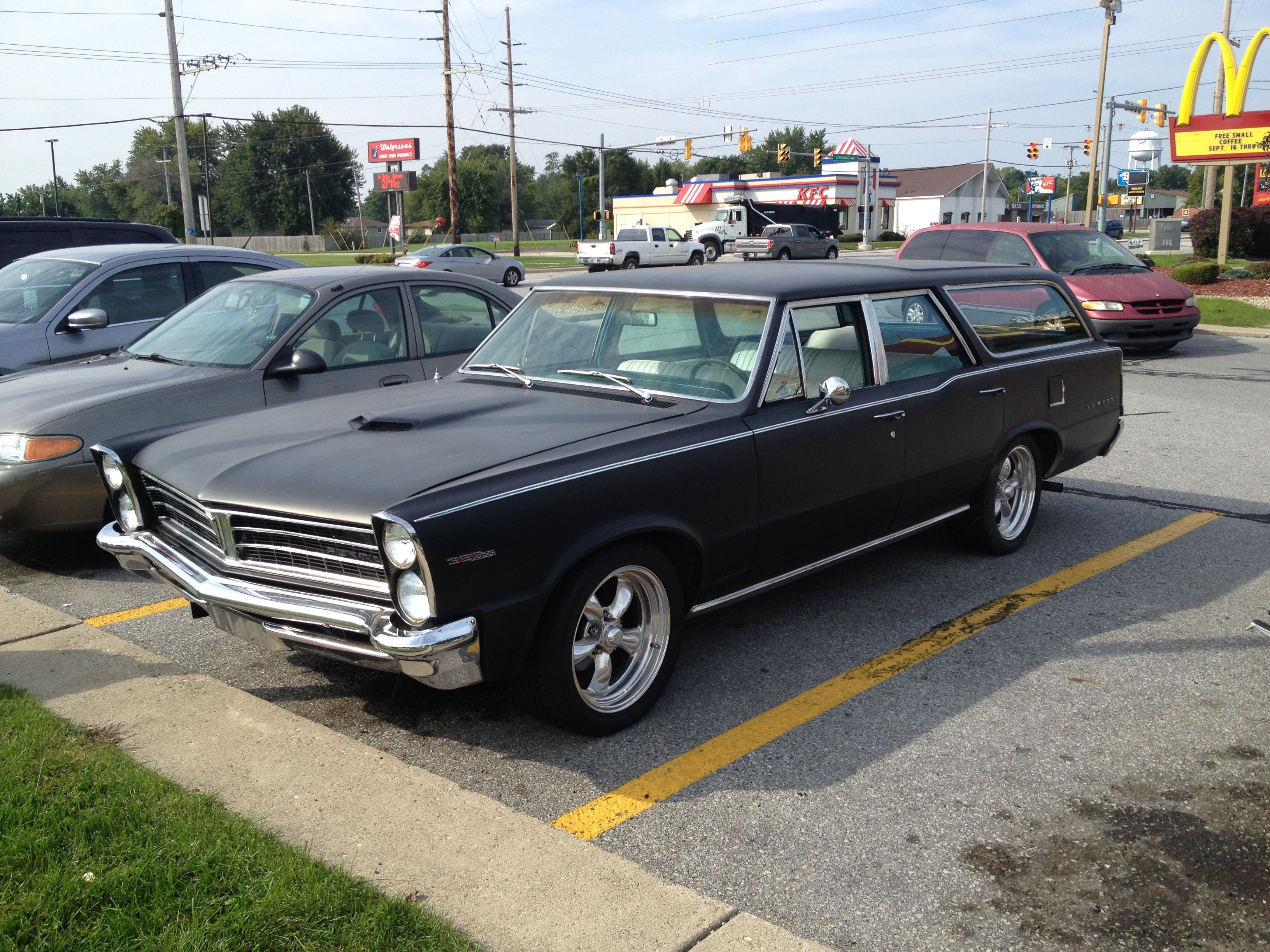 1965 pontiac tempest is scruffy on the outside but featured a rebuilt 400 v8 with aluminum edelbrock heads and backed by a richmond 5 speed manual