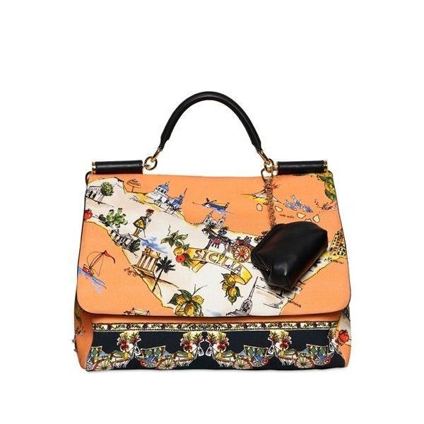 4d9d09f1ca DOLCE   GABBANA Large Soft Miss Sicily Canvas Bag ( 2