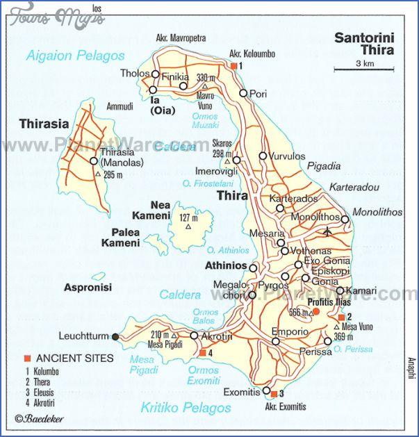 Greece Map For Tourists Greece Tourist Greece Map Santorini