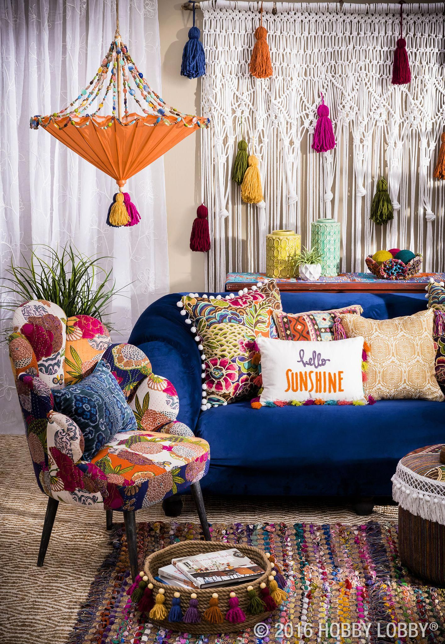 Small Boho Living Room: You Can Never Be Too Bold For Boho! #boholivingroom