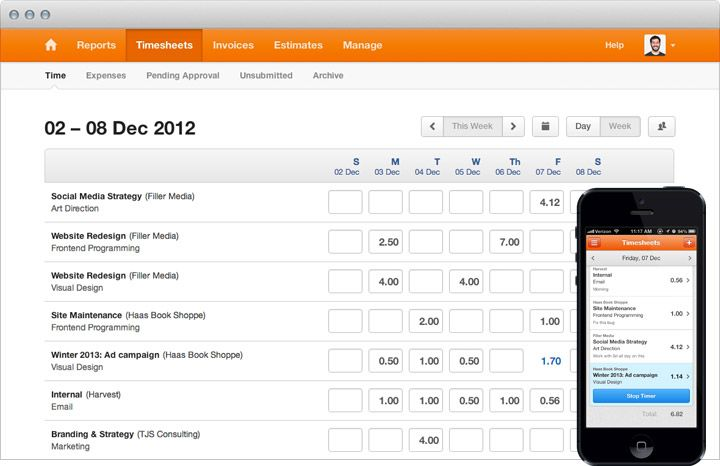 Pin by Register Deborah on online timesheet software Timesheet
