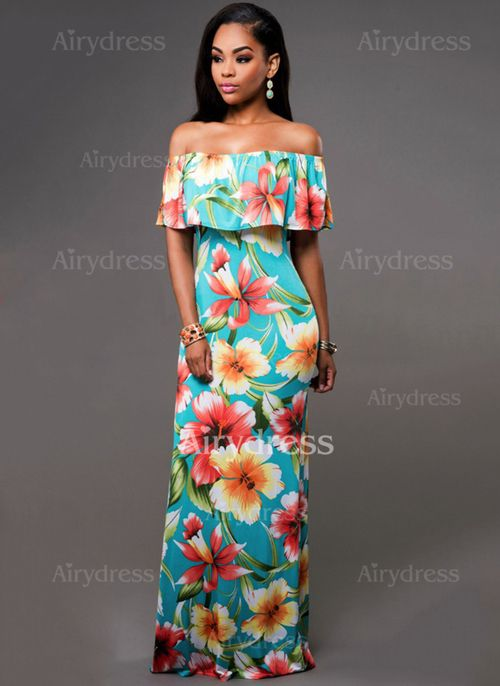 1bb72fbeaca12 Dress - $19.85 - Polyester Floral Short Sleeve Maxi Casual Dresses  (1955126994)