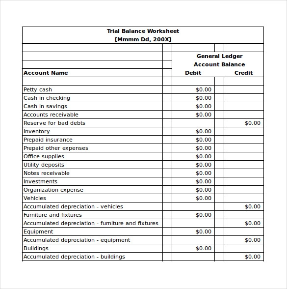 21 Balance Sheet Templates Balance Sheet Template Balance
