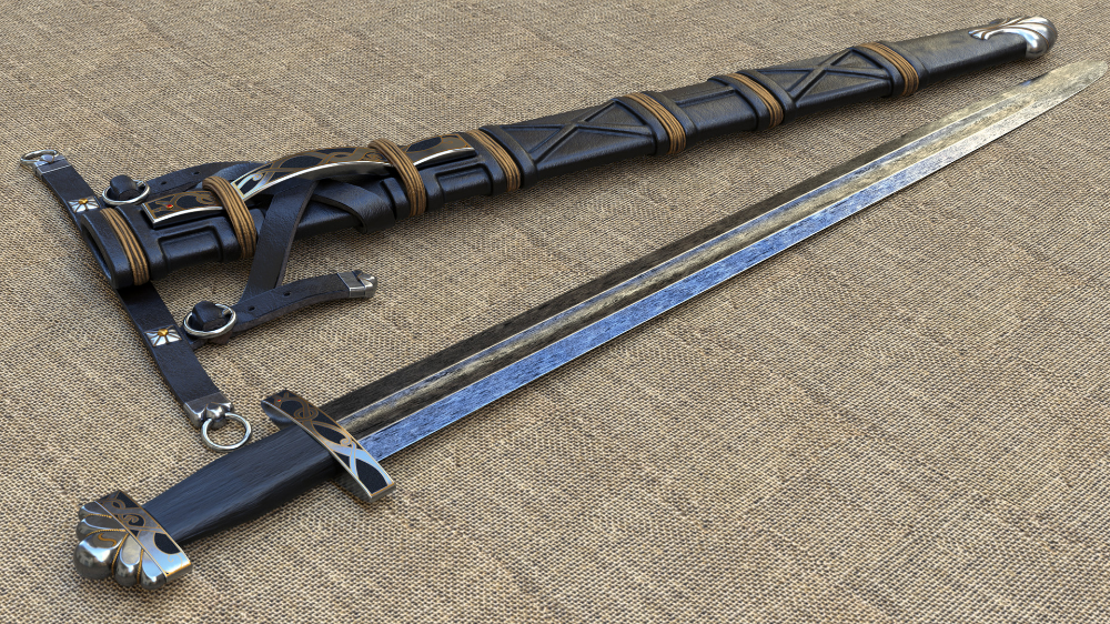 Artstation Alec Steele Viking Sword With Scabbard Ben Cooney Viking Sword Steele Vikings