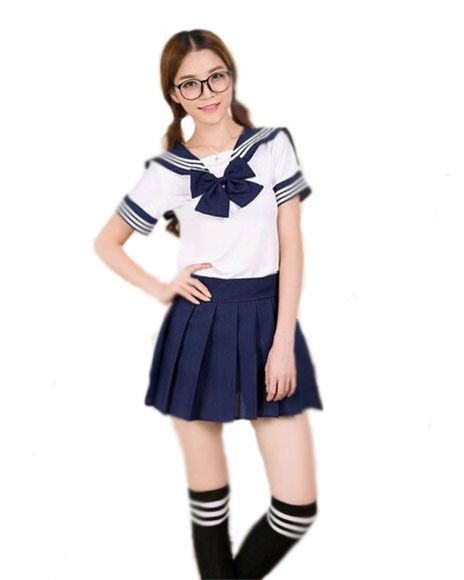 210612242 Barato Uniforme escolar japonês Sailor Moon Cosplay fantasia uniforme Anime  Girl Lady Lolita dos desenhos animados do traje
