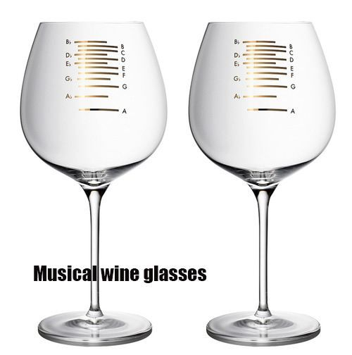 Musical wine glasses?! AWESOME!