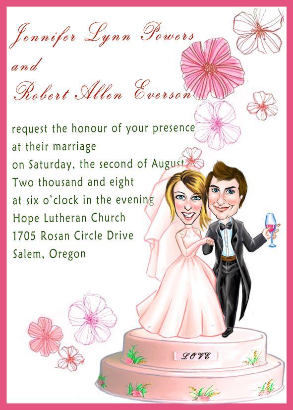 Wedding cake design invitations wedding invitations pinterest creative wedding invitation wording the wedding specialists filmwisefo Images