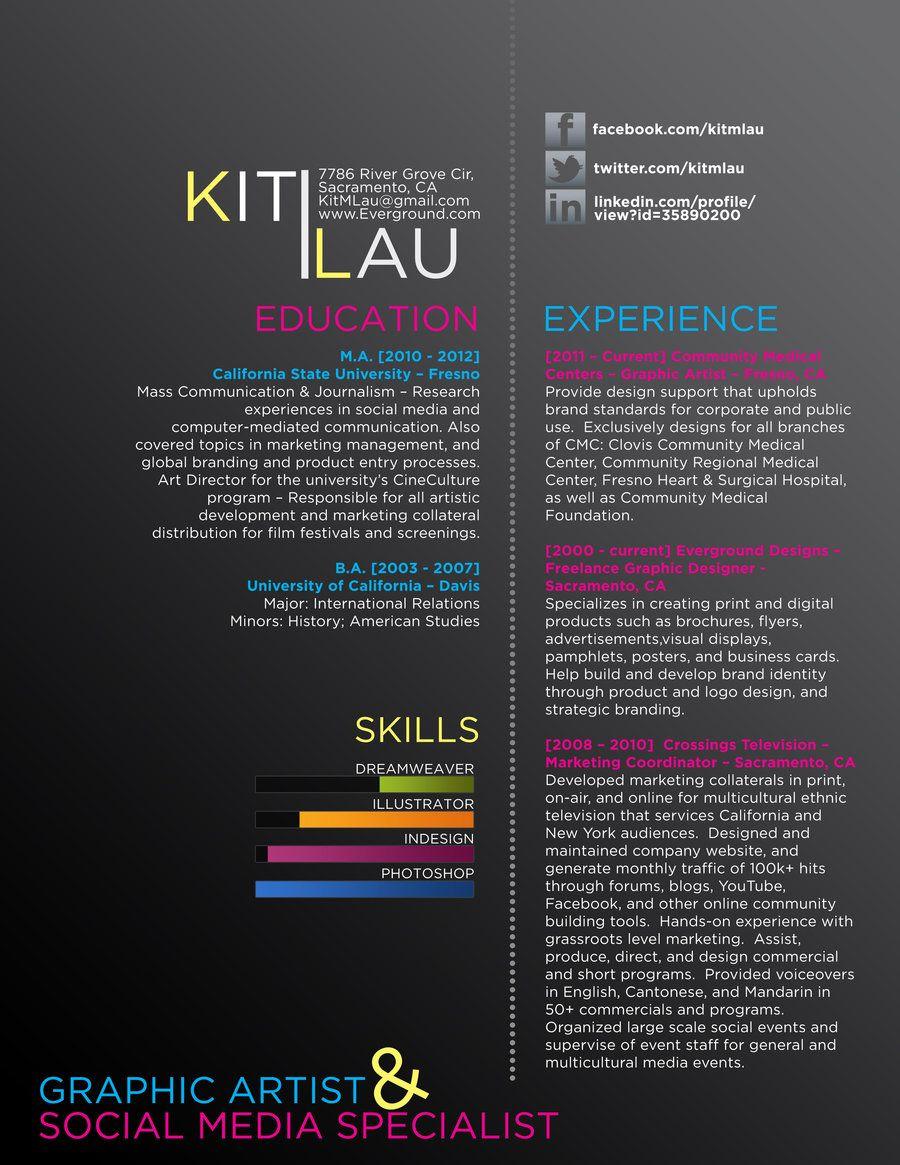creative graphic resume CV by ison.deviantart.com on @deviantART ...