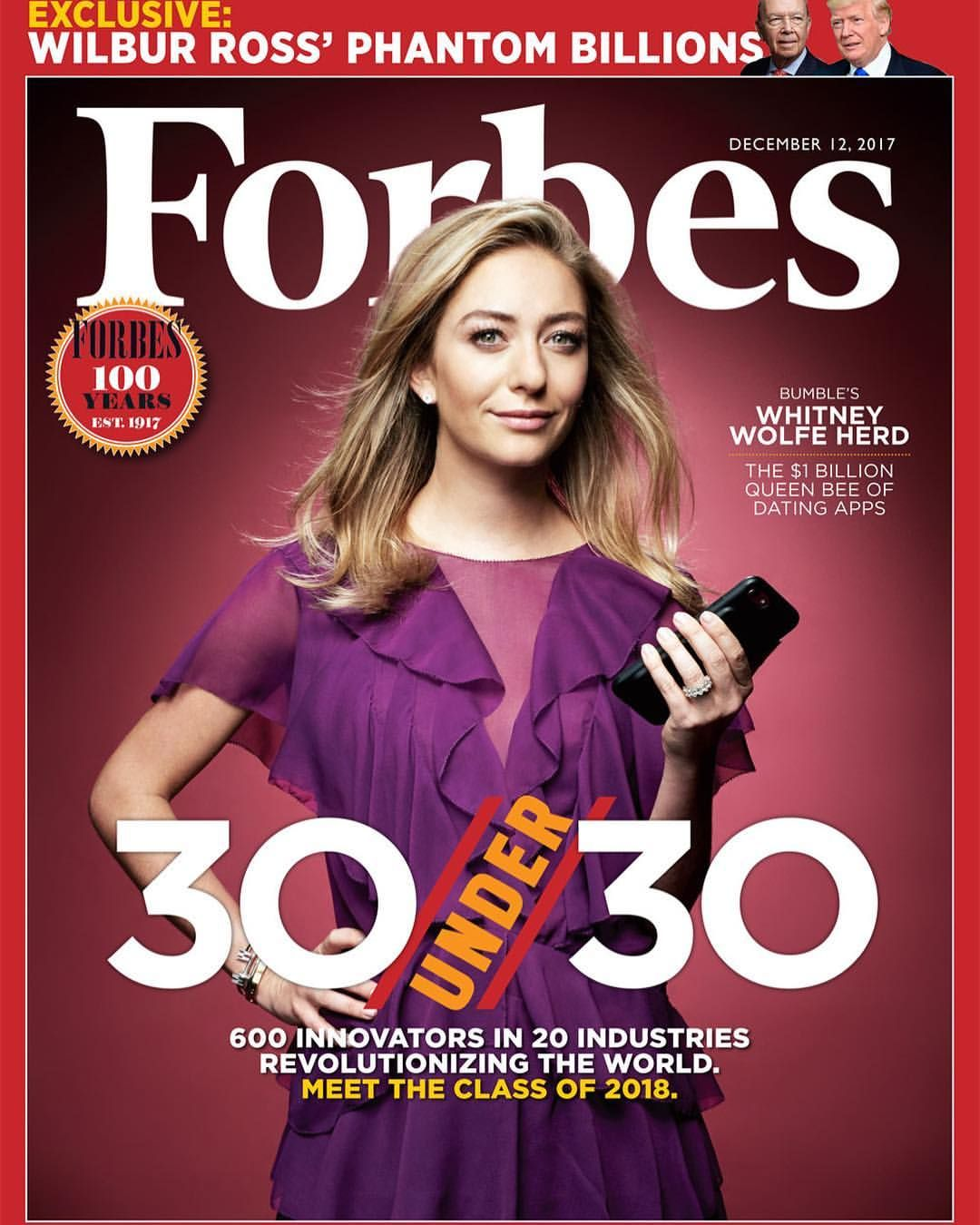 The Cover Of Forbes There Are No Words To Express My Gratitude This Morning I Am Tempted To Say I Can T Believe It But I Whitney Wolfe Forbes Cover Forbes