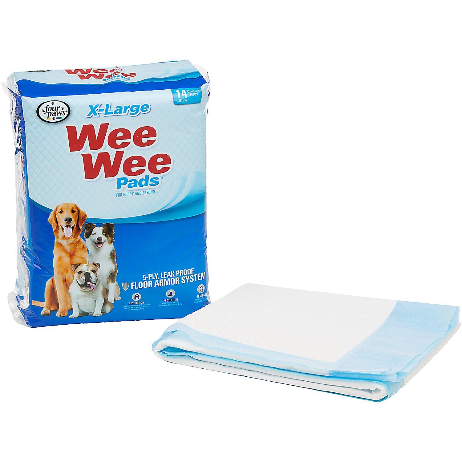 Wee Wee Xl Potty Pads 75 Count Puppy Pads Dog Training Pads