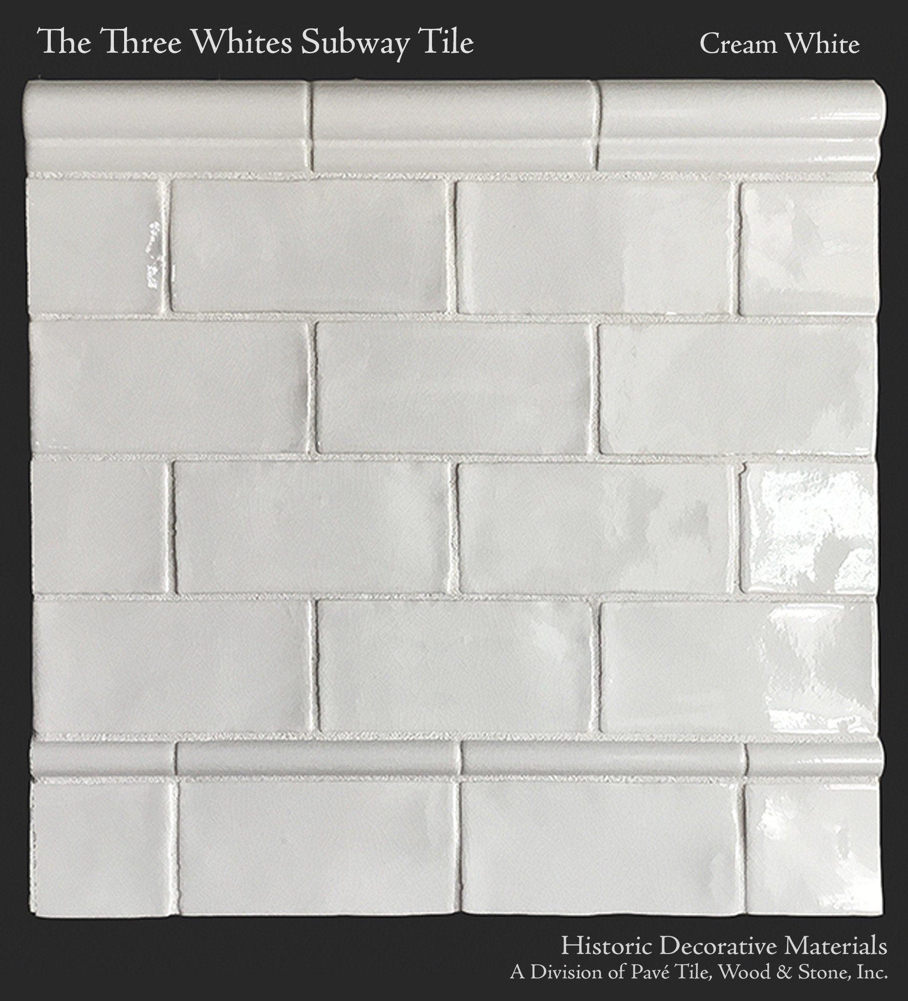 The Three Whites Glazed Ceramic 3 X 6 Subway Tile Collection In Perfect Cream White Subway Tile Kitchen Tiles Ceramic Subway Tile