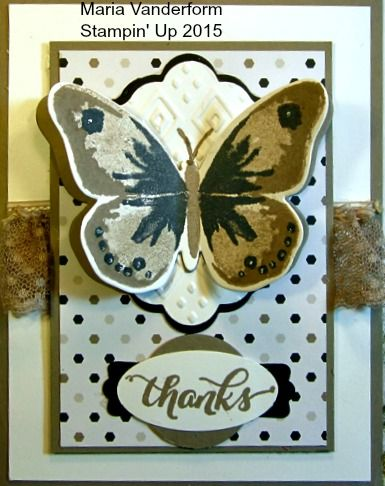 Crafty Maria's Stamping World: Watercolor Wings - How to and a card