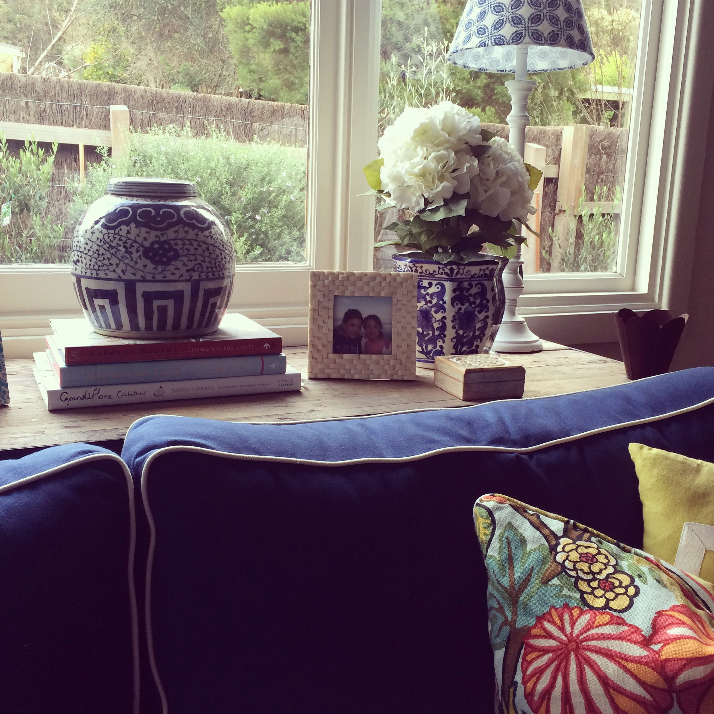 My console table vignette, love my blue and whites!   My Hamptons ...