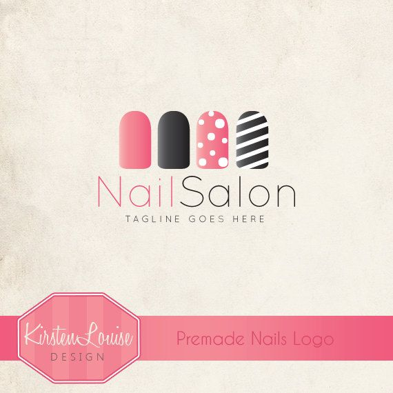 premade nail salon logo nail art logo by