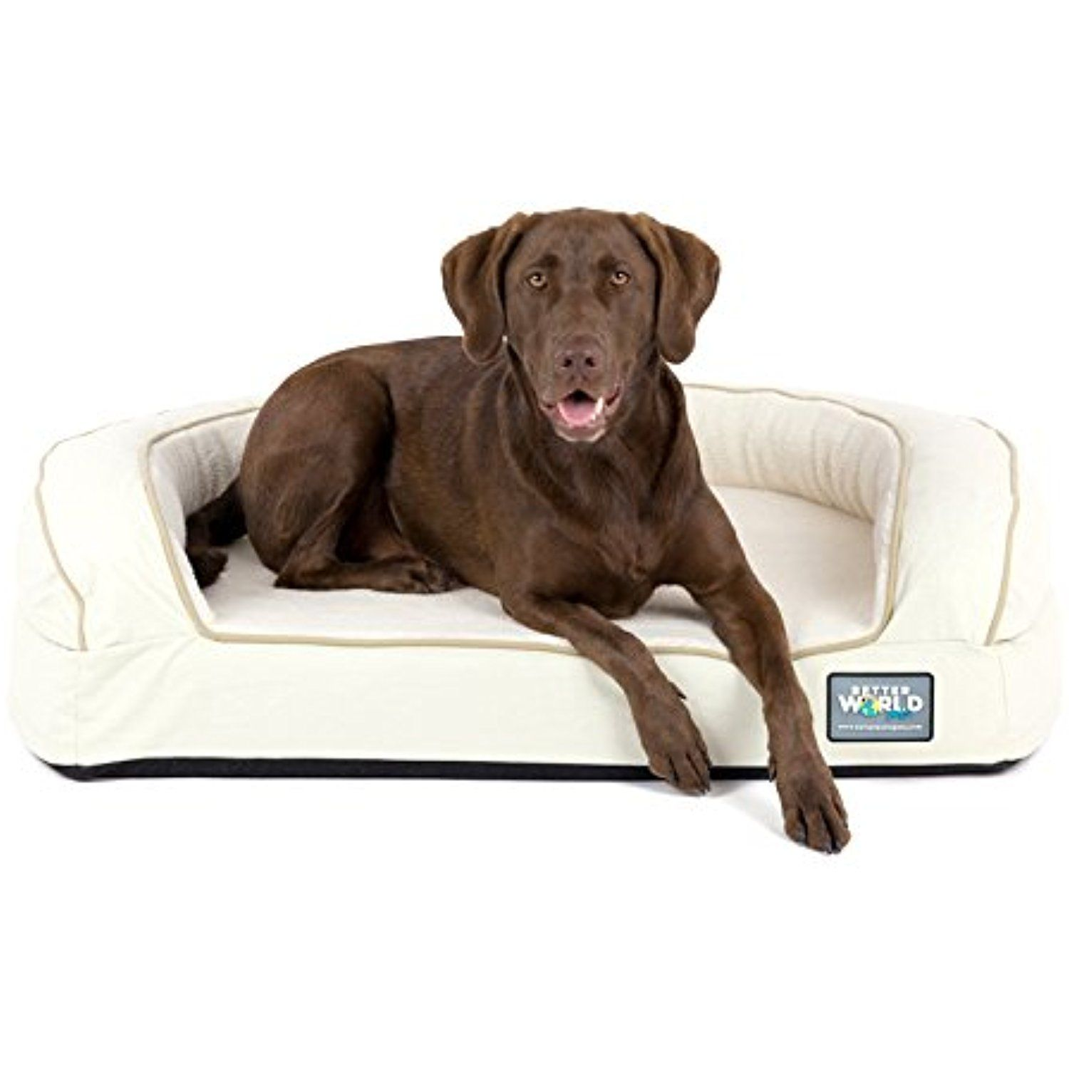Super Comfort Bolster Dog Bed Waterproof Memory Foam Pet Bed With Durable Canvas Cover Extra Plush Fleece Foa Memory Foam Pet Bed Bolster Dog Bed Dog Bed