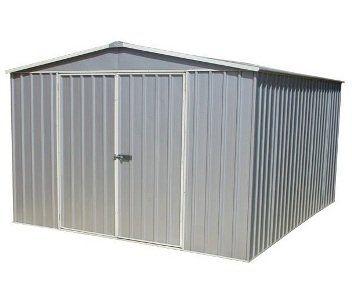Regent X Metal Shed Zinc Titanium Garden Shed Storage