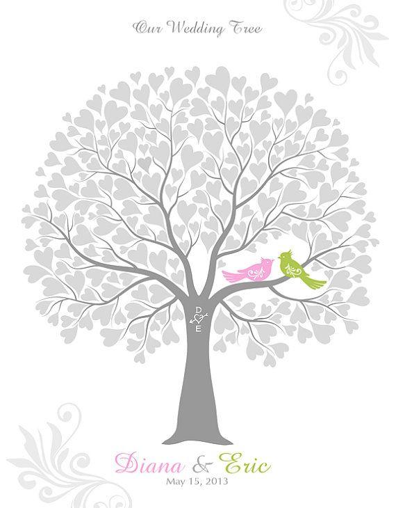 Wedding Tree Guest Book Alternative Wedding by TJLovePrints