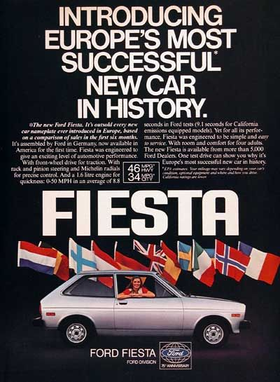 Vintage Ford Fiesta ad