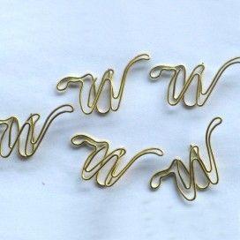 1 dozen lot fancy letter w shaped paper clips not gold fashion
