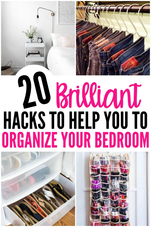 20 Amazing Organization Hacks That Will Transform Your Bedroom - Organization Obsessed #summerhomeorganization