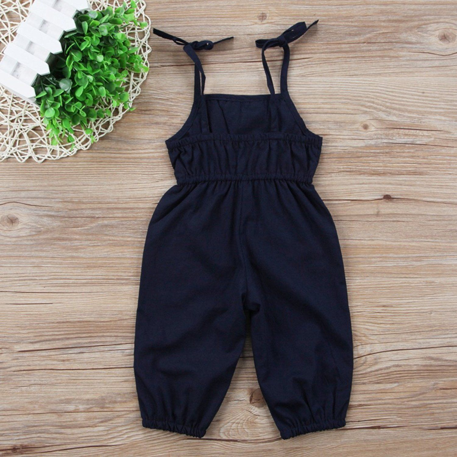 d308743a4790 BELS Kids Baby Girls Jumpsuit Rose Embroidery Romper Sleeveless Halter  Ruffle Outfit 23Y -- Read more reviews of the product by visiting the link  on the ...