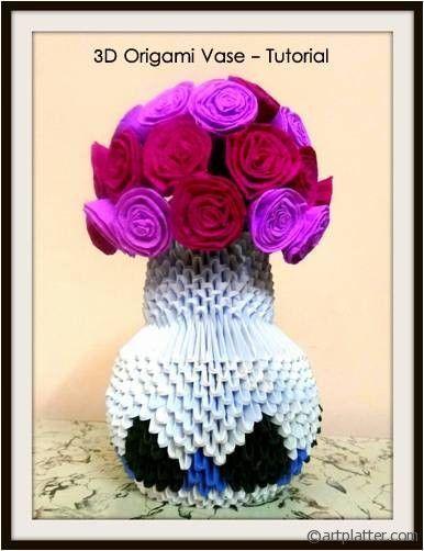 How to make a 3d origami vase art platter diy pinterest how to make a 3d origami vase art platter mightylinksfo
