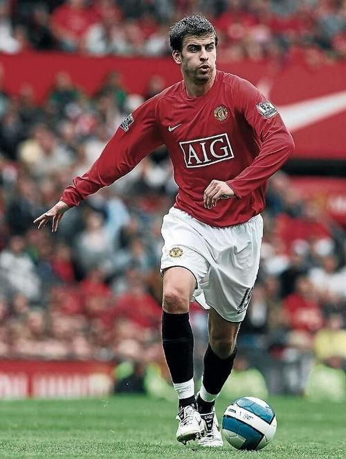 Most Good Looking Manchester United Wallpapers 2008 Gerard Pique of Man Utd in 2008.