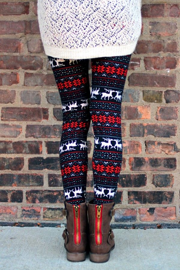 I Want Christmas Sweater Weather Leggings. #christmas #leggings ...