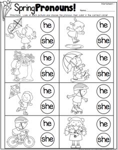 Spring Pronouns Freebie! | Speech-Language Therapy Blog ...