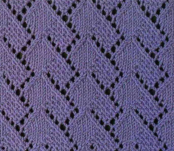 A Lace Stitch Pattern Knitting Stich Pinterest Lace Knitting