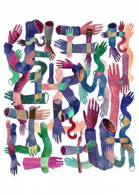Color cross hands | Displate thumbnail