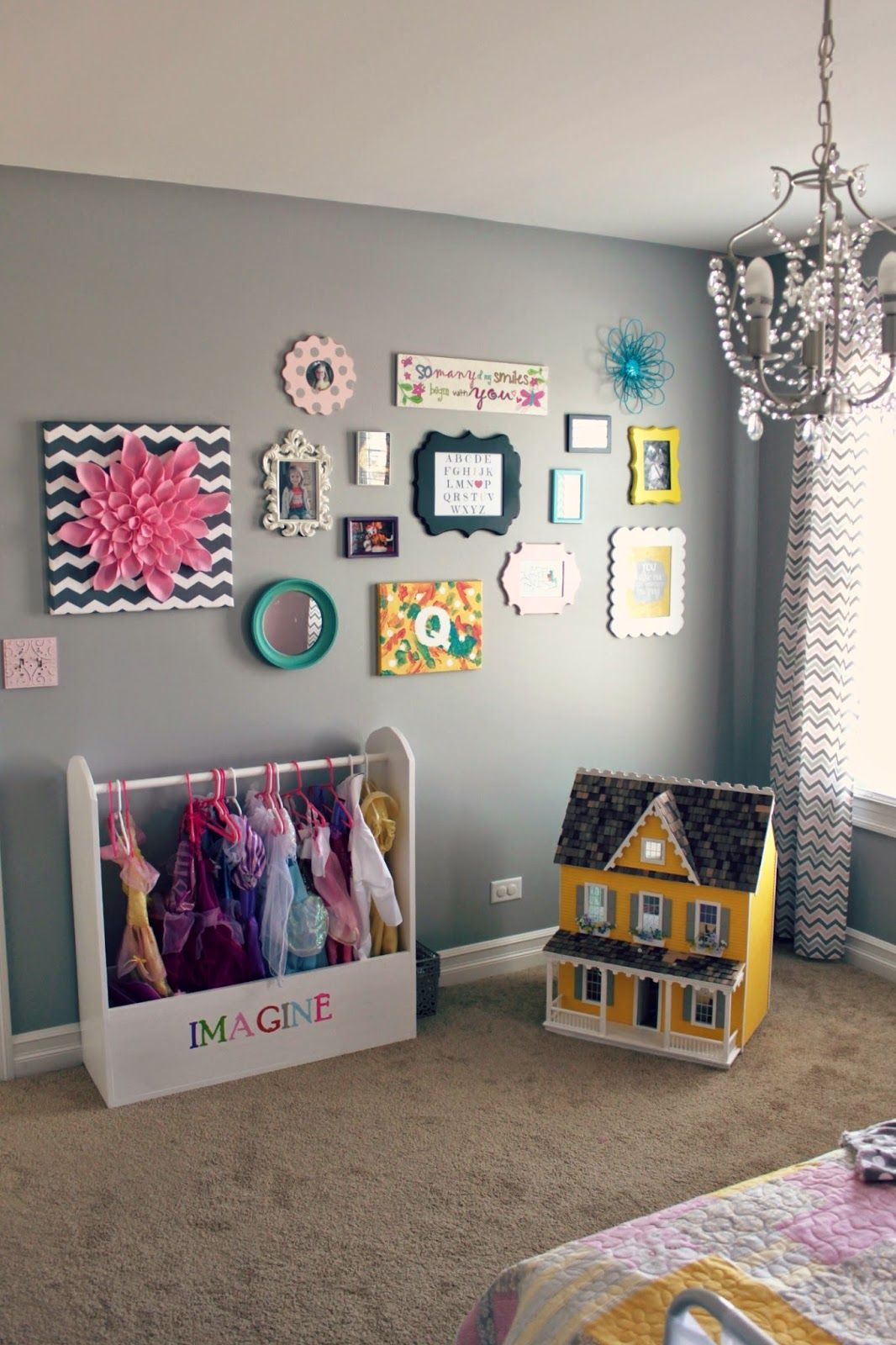 all things DIY: room reveal ~ girl's bedroom on a budget. FUN gallery style