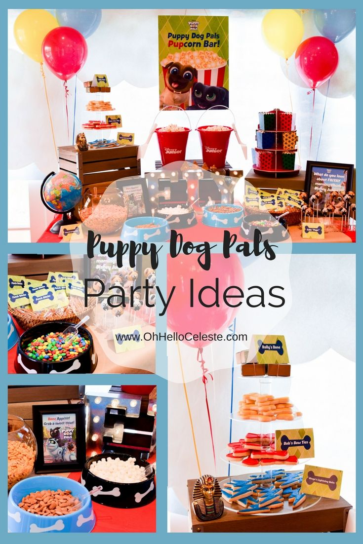 Celebrate Friyays With These Adorable Disney Junior Puppy Dog Pals Party Ideas Client Disney Junior Birthday Party Puppy Birthday Kids Birthday