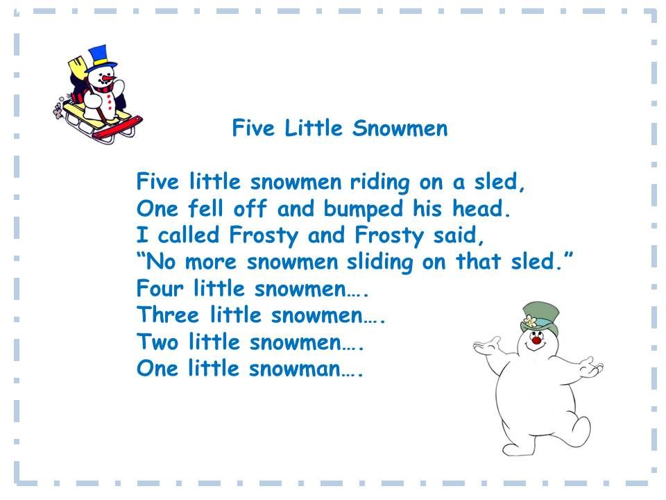rockin 39 with the five little snowmen song and song chart. Black Bedroom Furniture Sets. Home Design Ideas