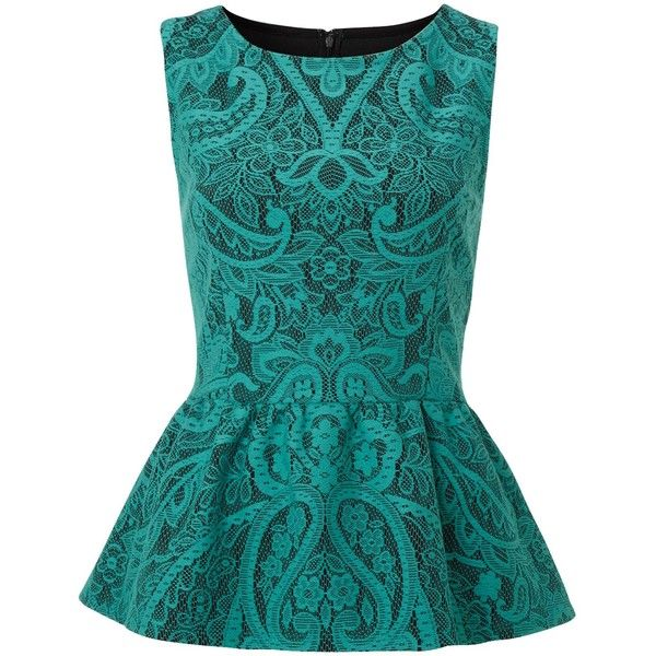 Therapy Bonded lace peplum top