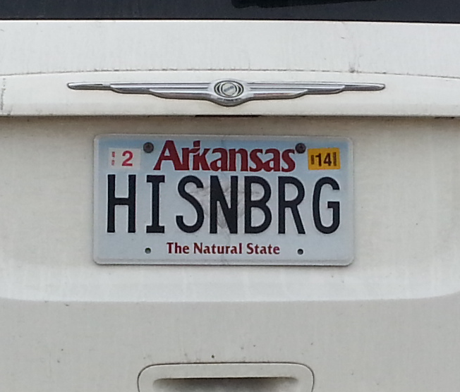 That Crystal On Arkansas License Plates Not A Diamond Funny