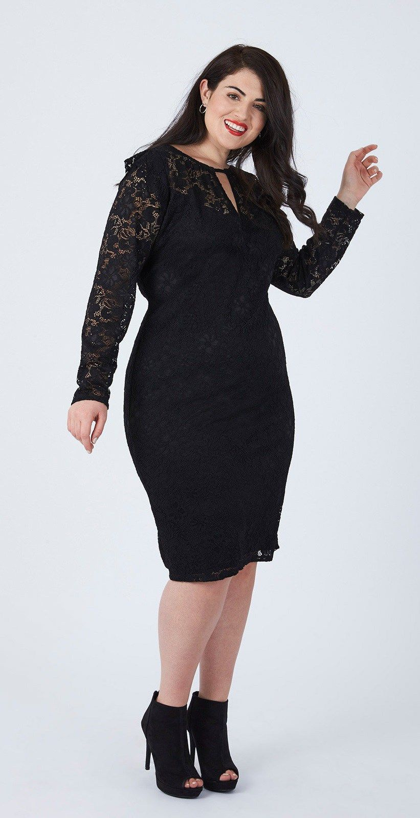 47a783cd36a Plus Size LBD Outfits - Plus Size Little Black Dress - Plus Size Holiday  Dress  plussize  alexawebb  dress  holiday