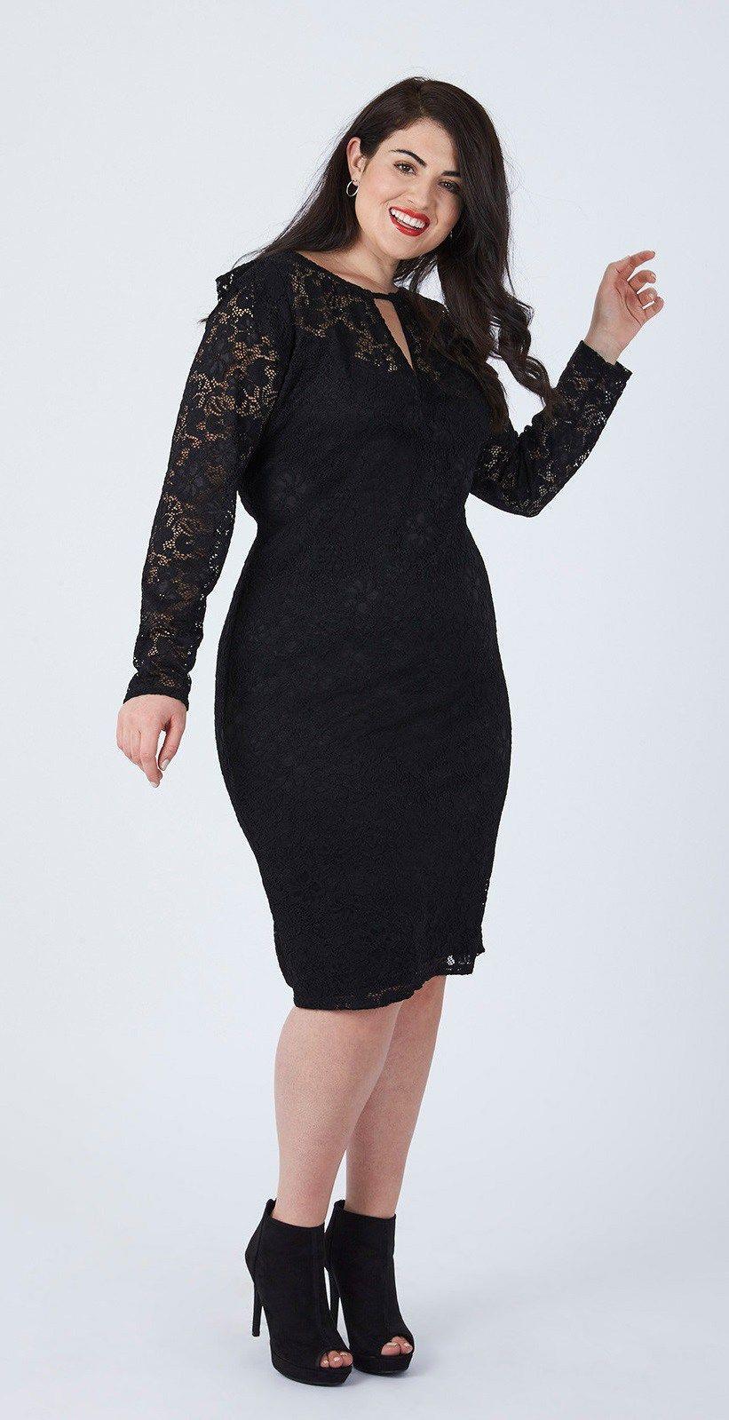 47a783cd36a Plus Size LBD Outfits - Plus Size Little Black Dress - Plus Size Holiday  Dress  plussize  alexawebb  dress  holiday