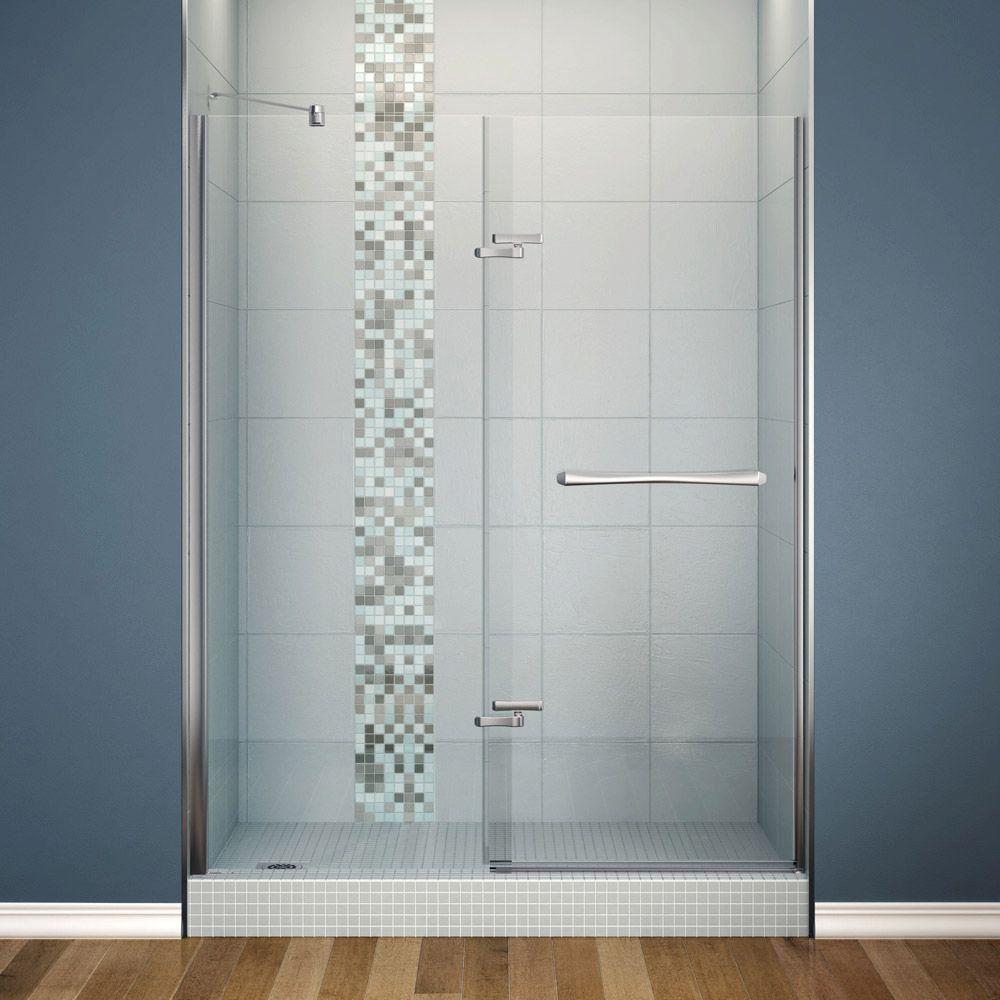 Reveal 60 Inch Panel Door Pivot Shower Doors Glass Shower Doors