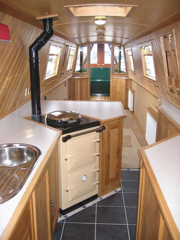narrowboat kitchens - Google Search | Houseboats in 2019 ...