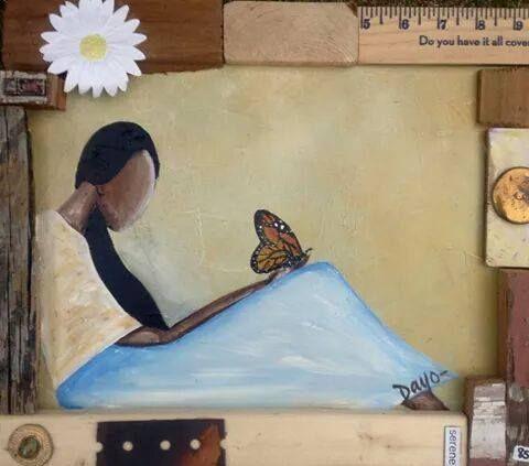 Original Art, Acrylic on Wood, Nashville artist, Dayo Art, children of all races, multicultural, unity