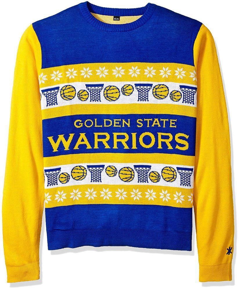 ugly christmas sweater golden state warriors wordmark design new xl nba