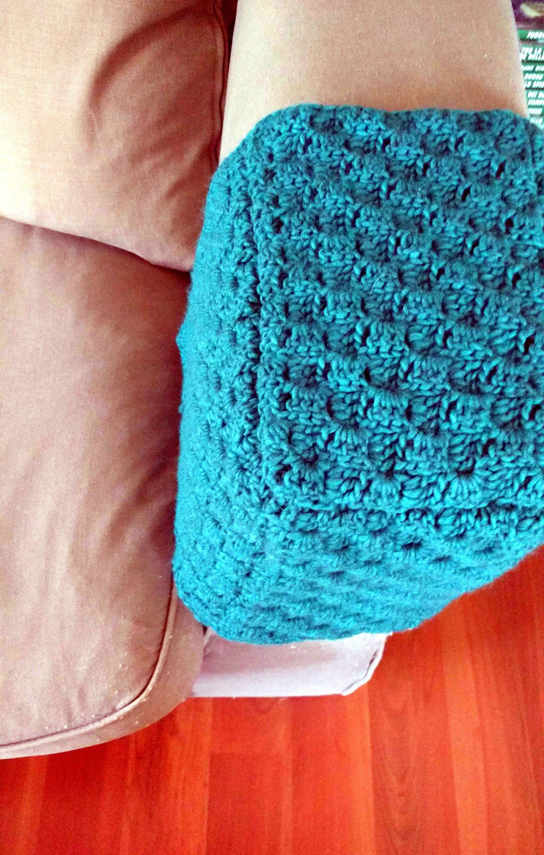 Custom armrest cover cap for sofa couch crochet armchair